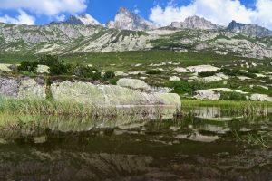 Wir sind noch nicht am Bergsee, aber der Bergseeschijen zeigt sich trotzdem schon.