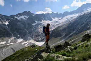 Beim Hüttenaufstieg kann man die gesamte Tour gut einsehen.