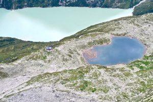 Tiefblick zur Bergseehütte