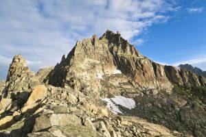Gross Bielenhorn; links nach vorne weisend der Südostgrat