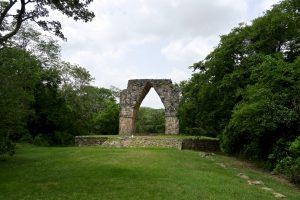 Dieses Tor markiert das Ende einer alten Maya-Straße.