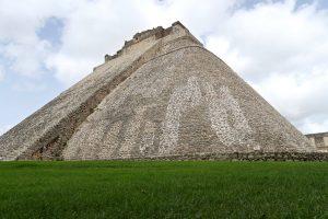 Die Adivini-Pyramide in Uxmal hat als einzige einen ovalen Grundriss.