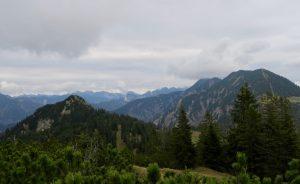 Rückblick vom Platteneck auf Schildenstein und Blauberge