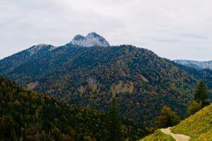 Im Abstieg zeigen sich Roß- und Buchstein.