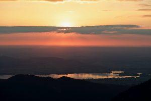 Sonnenuntergang Forggensee
