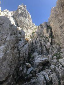 Aufstieg Regalmwand