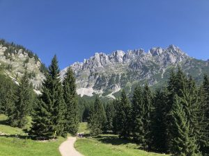 Aufstieg Gaudeamushütte
