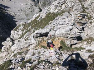 Abstieg Regalmwand