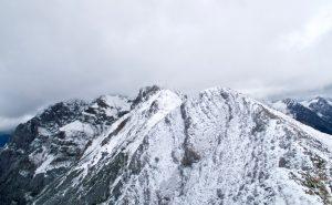 Mittenwalder Höhenweg eingegraupelt