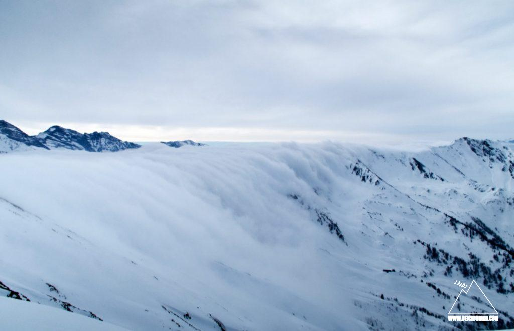 Wolken am Naviser Kreuzjöchl