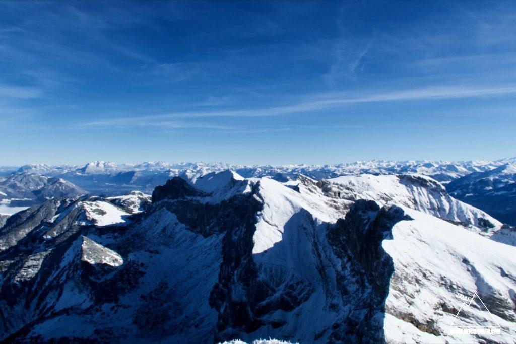 Gipfelblick Hochiss