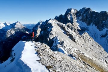 Abstieg Hoher Gleirsch