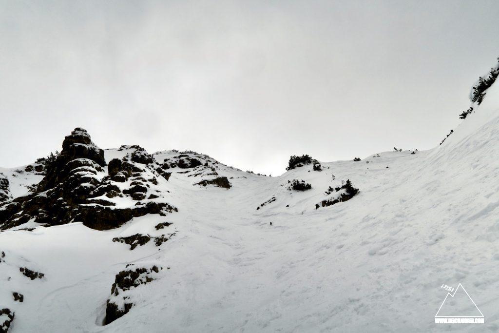 Abfahrt Kreuzspitze