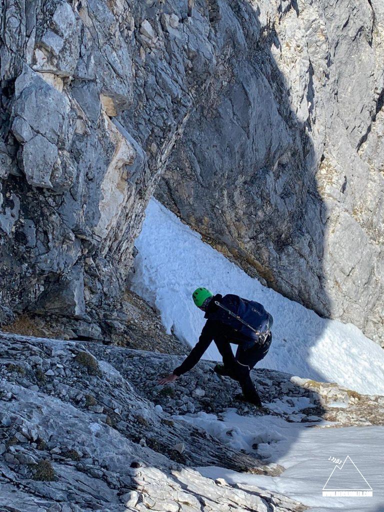 Abstieg Verschneidung