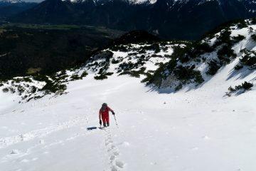 Anstieg Untere Wettersteinspitze