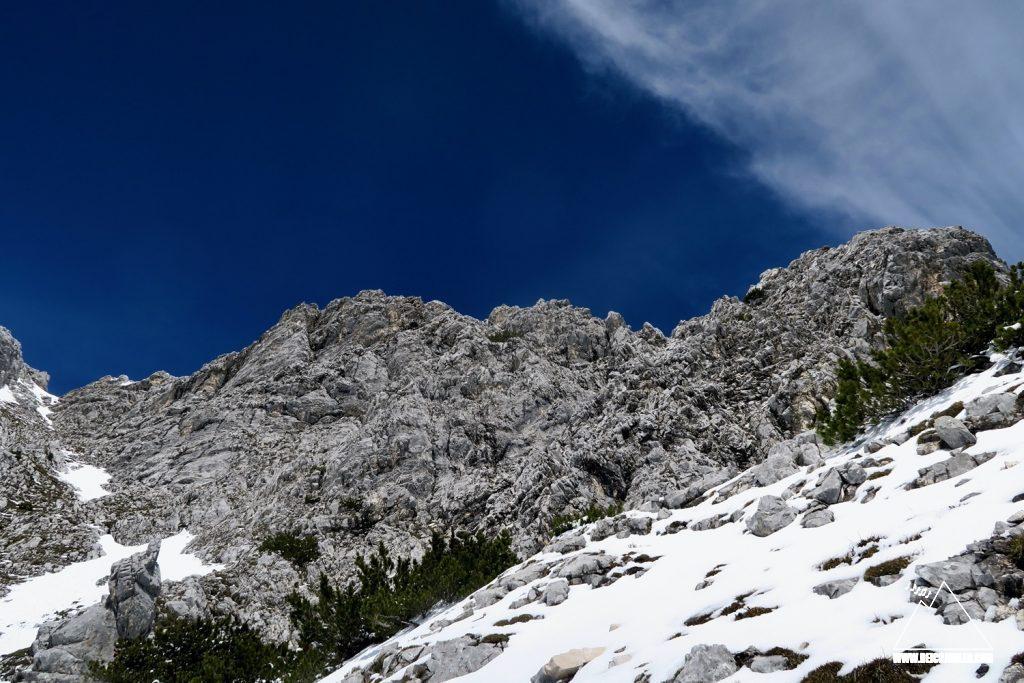 Gipfelaufbau Untere Wettersteinspitze
