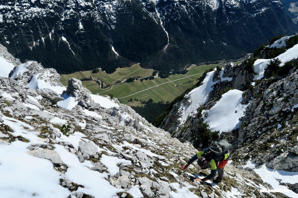 Abstieg Schrofen