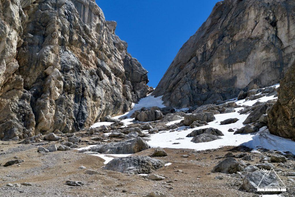 Abstieg Marmolada Südseite