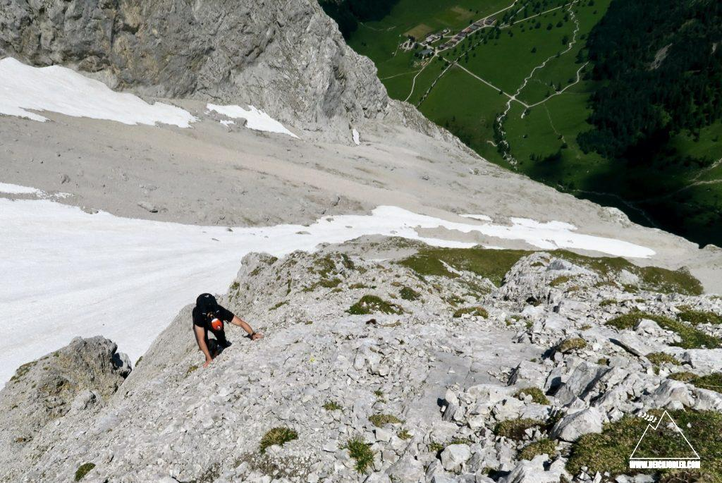 Aufstieg Spritzkarspitze